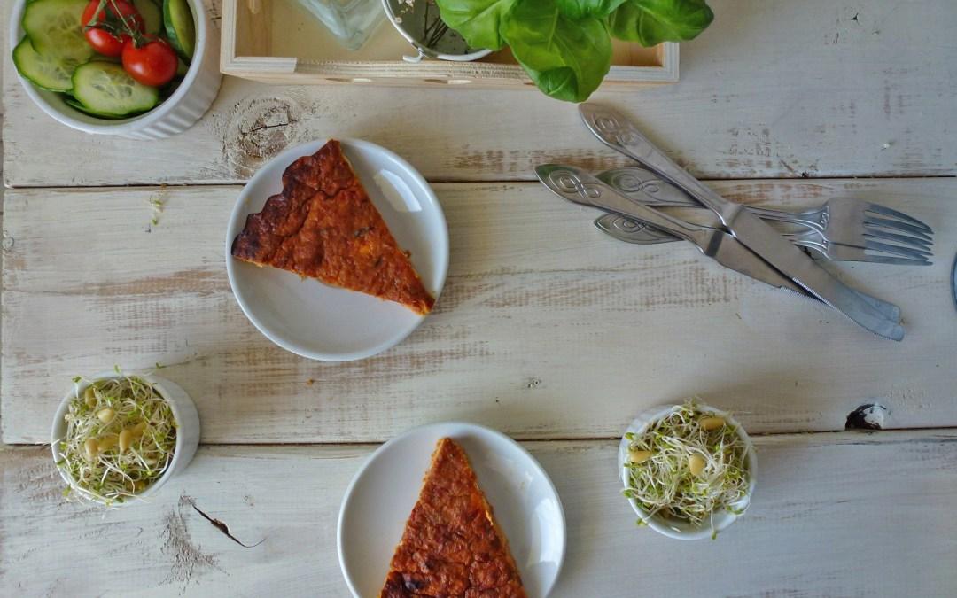 Fausse tarte de légumes aux haricots blancs et fromage de féta ( sans gluten).