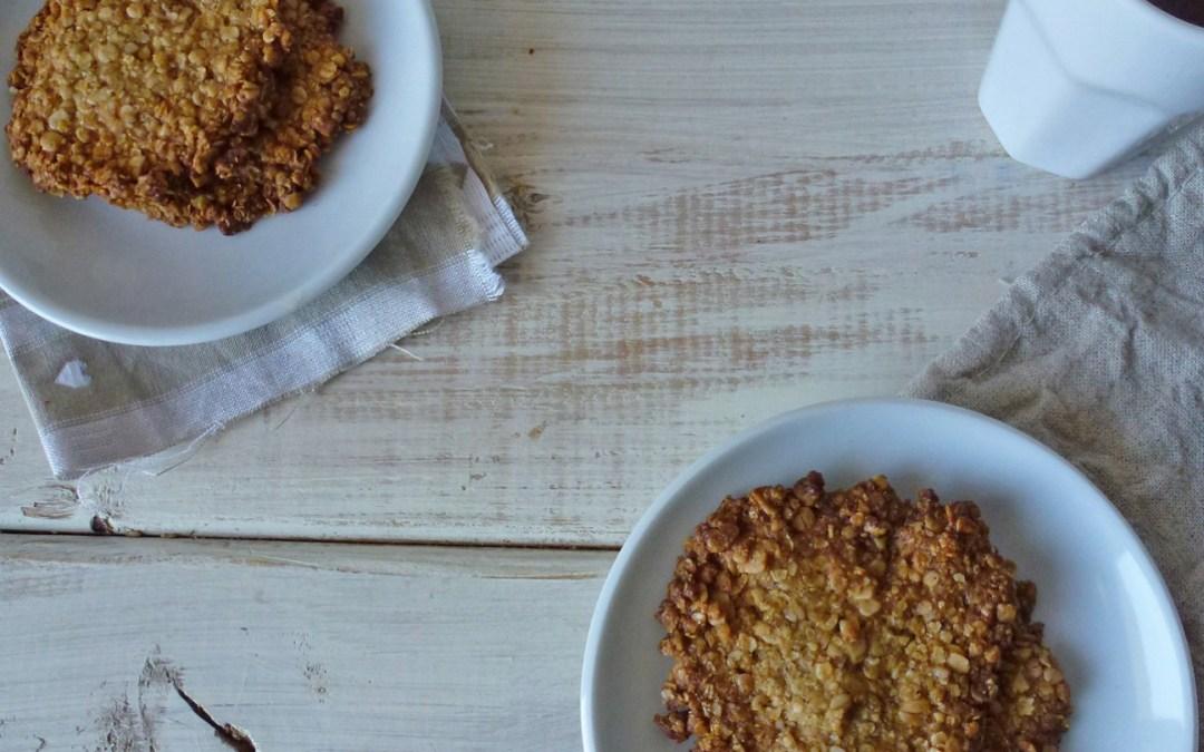 Croquants aux flocons de céréales  ( sans gluten*, vegan )