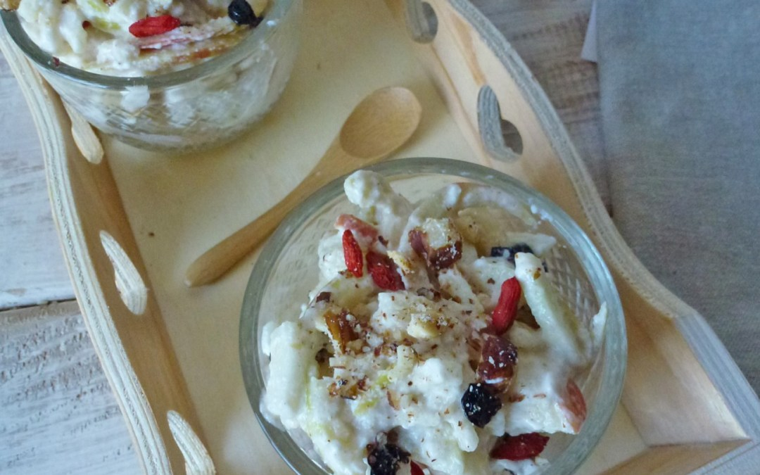 Comme un porridge…tout léger, aux pommes, sans céréales (  vegan )