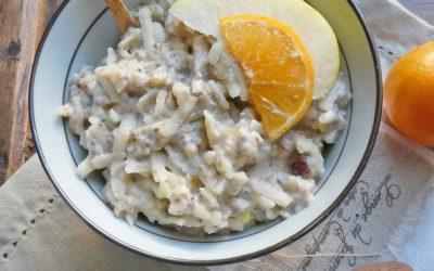 Faux porridge, aux pommes et purée d&rsquo;amande  ( Sans céréales, sans cuisson, léger, détox  <img src=