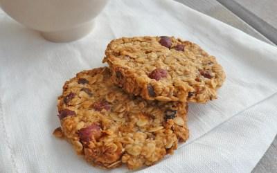 Cookies au granola   ( Sans sucre ajouté, vegan )