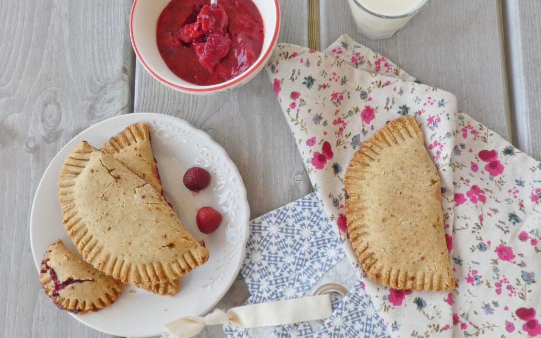 Chausson rustique aux fraises à la farine de riz et de petit épeautre ( Vegan )