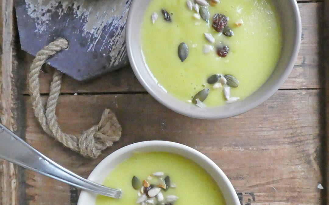 Velouté de chou-fleur au curry doux   ( Vegan )