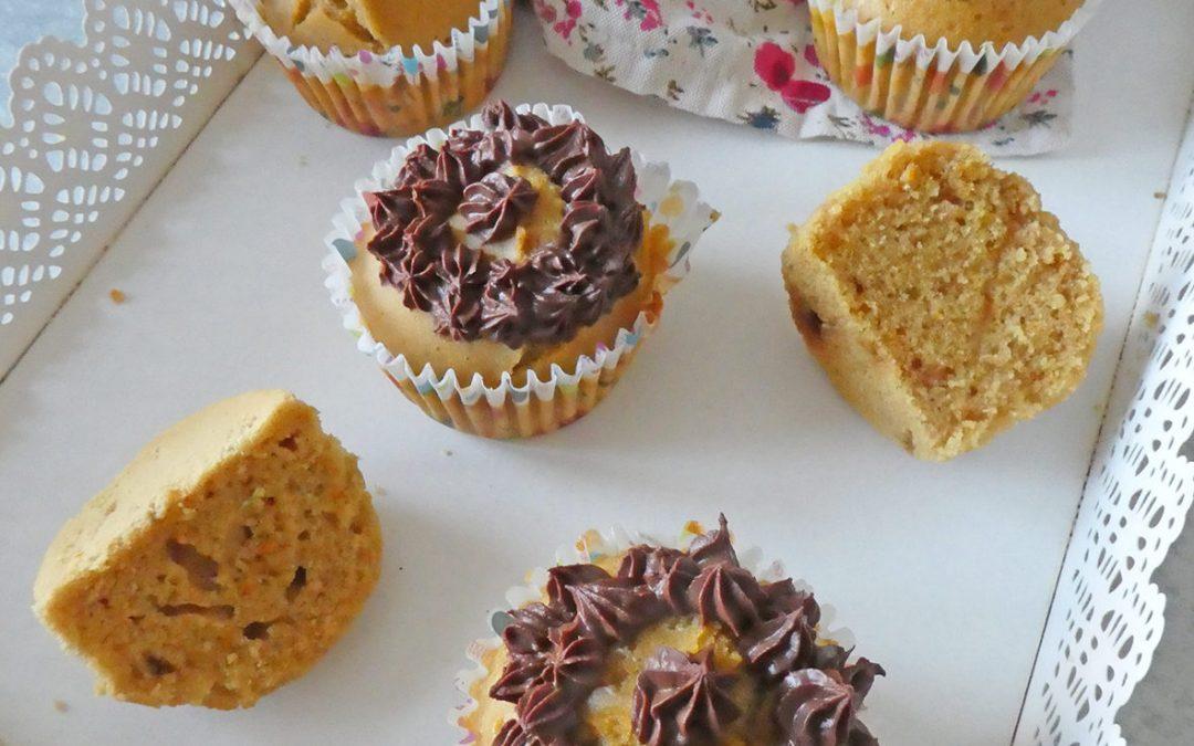 Muffin/Cupcake à l'huile d'olive, aux zestes et jus d'orange ( Avec ou sans gluten )