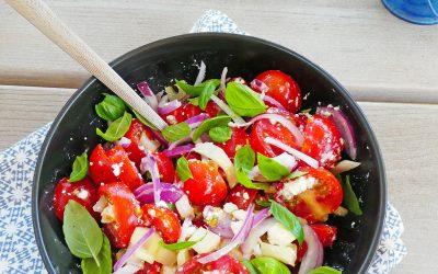 Salade de tomates cerise ( léger, sans céréales, option vegan )