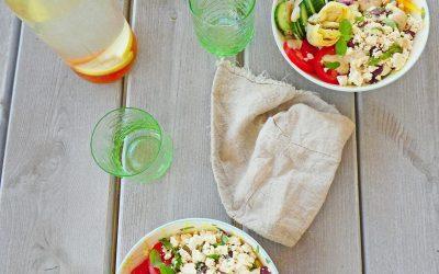 Salade Grecque vegan au Feto  ( Sans céréales, léger )