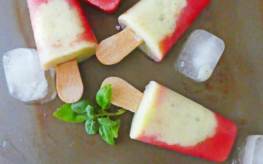 Minis sorbets pastèque/ananas/basilic  ( Sans sucre ajouté, vegan, léger )