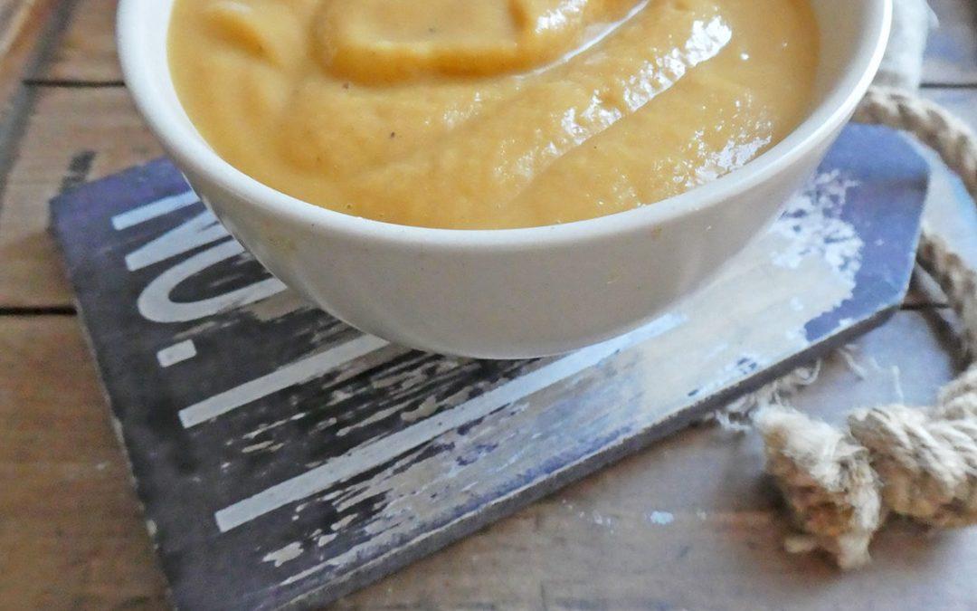 Velouté d'énergie aux marrons et patate douce  ( Vegan, sans céréales )