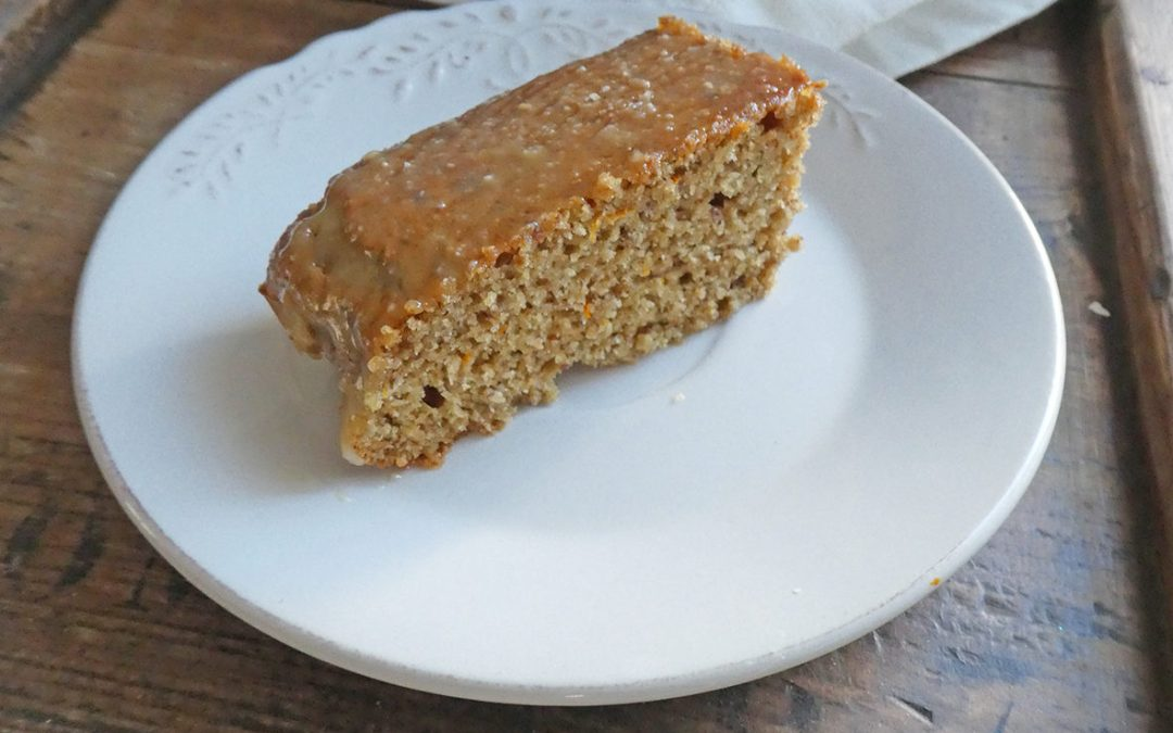 Gâteau de noisettes, à l'orge mondée et zestes de clémentines ( index glycémique contrôlé )