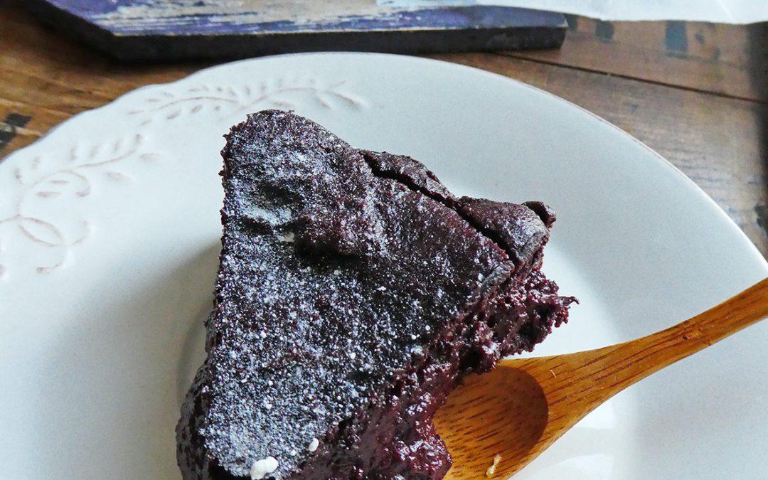 Le gâteau au chocolat riche en antioxydants et sans matière grasse ajoutée ( Index glycémique contrôlé, avec ou sans gluten ).