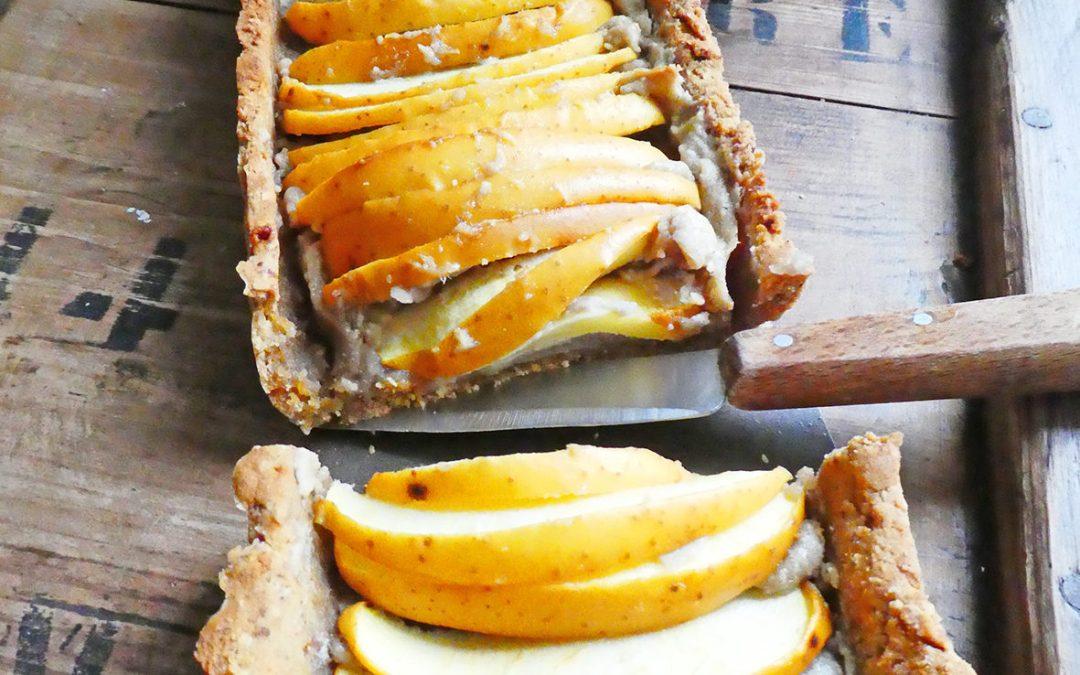 Tarte aux pommes à la purée de châtaigne et de noix de cajou ( Vegan, sans gluten )