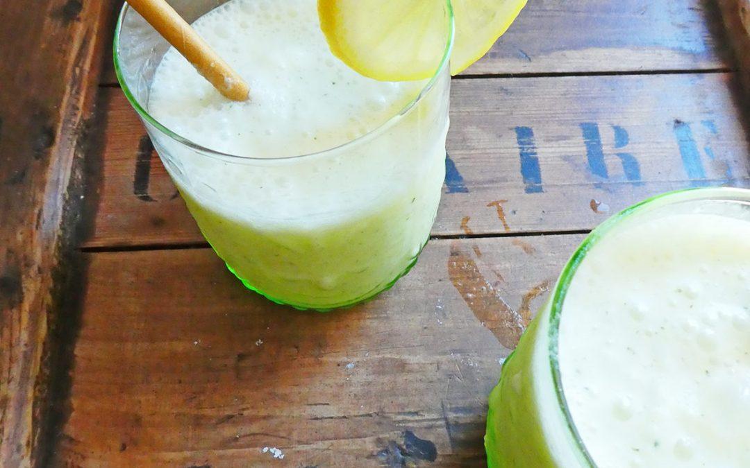 Boisson légère, ananas, coco, menthe  ( Vegan, , sans sucre ajouté )