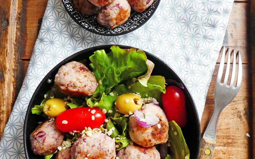 Boulettes de riz/haricots rouges au sojami ( Vegan, sans gluten )