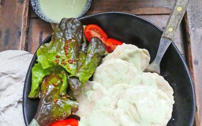 Raviolis maison au chèvre frais, butternut et basilic
