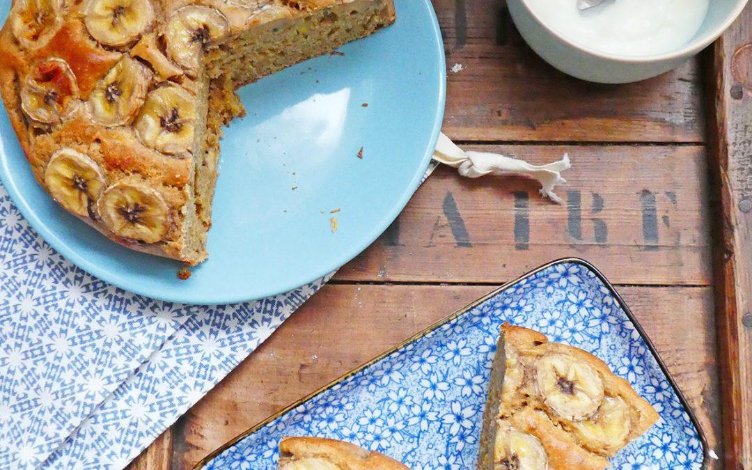 Gâteau à la banane et Orge mondée ( Moins de sucre )
