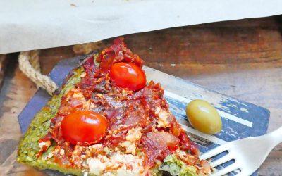 «Pizza» de brocolis ( Léger, sans blé, sans gluten, IG bas )