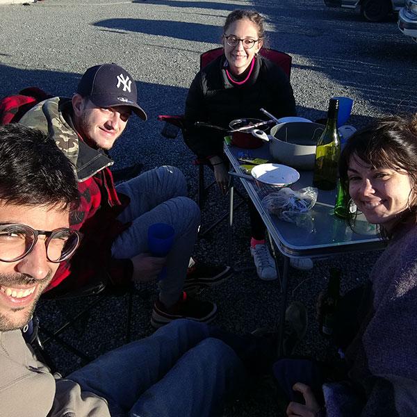 comida en camping blenheim