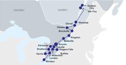 Canada itinerary through Ontario and Quebec
