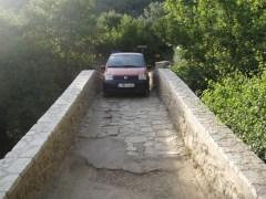 Taking a narrow shortcut