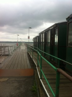 Cute train you take to get to the end of the pier
