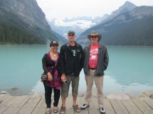 My brother Neil and his wife Yvonne with me at Lake Louise in summer 2012