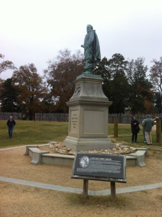 John Smith an infamous leader at Jamestown on the first ship to arrive.