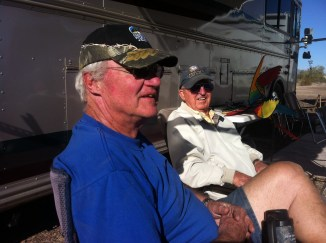 Joe and Gerry with 164 years between them not all RVing