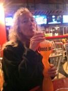 Enjoying a beverage