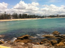 Looking back at Manly Beach
