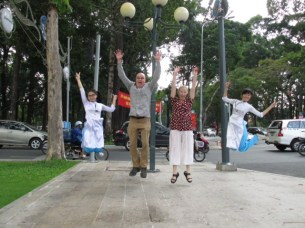 Great day out we leapt in Saigon with joy