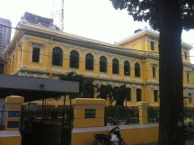 His place of employment the Saigon Post office built by Gustav Eiffel