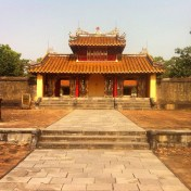One of the temples at the tomb