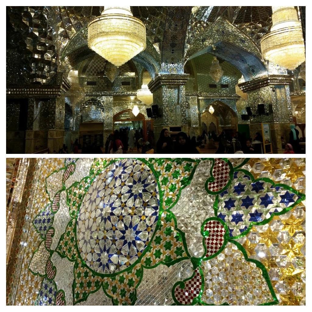 Inside the shrine, Shiraz