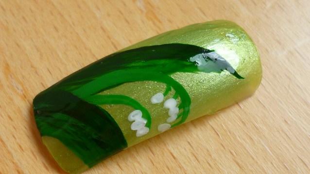 Nail Art muget sur capsule