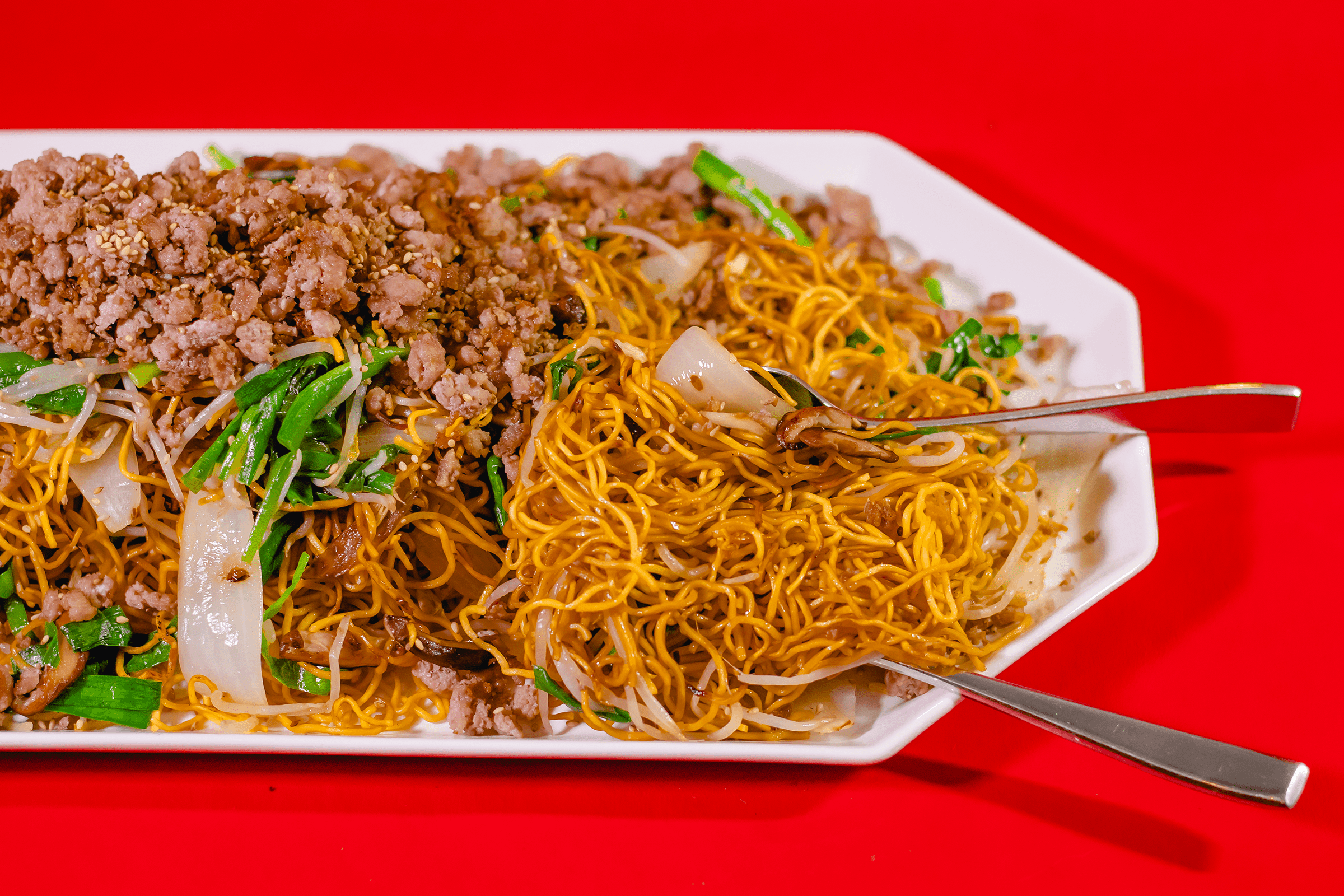 Chinese Pan Fried Noodle With Pork Kiyafries