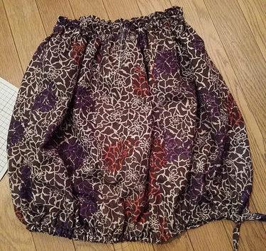 古い羽織をリメイク☆羽織からバルーン風スカートへ!