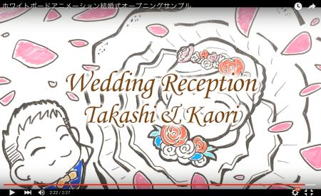 結婚式オープニングムービをホワイトボードアニメーションで作成する場合について