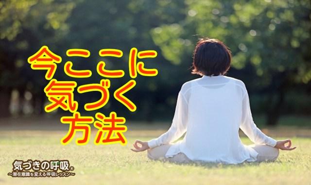 今ここ 気づく 瞑想 呼吸