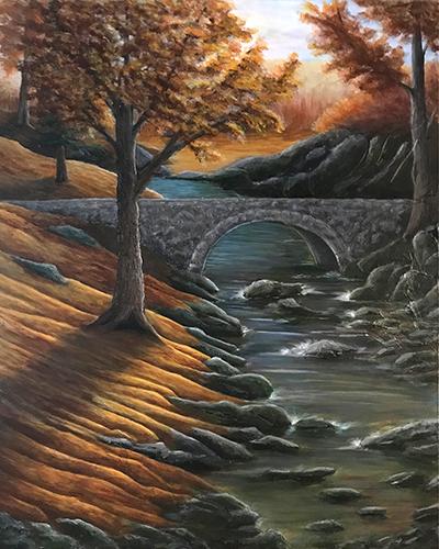 KJBurk.com | Autumn in the Ozarks ~ Original Landscape Painting by Fine Artist, KJ Burk