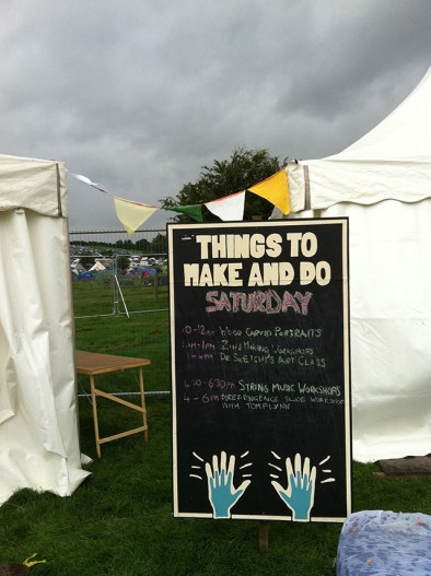 Things to Make and Do tent.