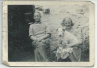 Cecil and Jane Green (and Scamp) at rear of 57 My Ladys Road Belfast