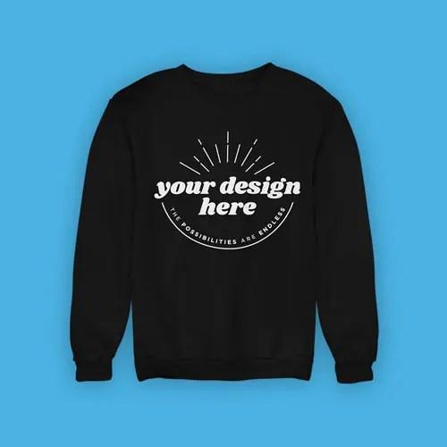 Sweatshirt Black Frontal