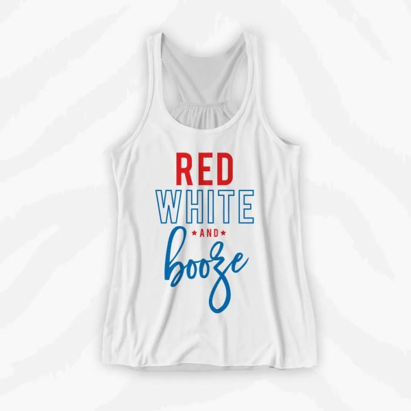 America Red White Booze Graphic Tank Holiday