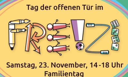 Tag der offenen Tür im FREIZI im Bergfeld am Samstag, den 23. November