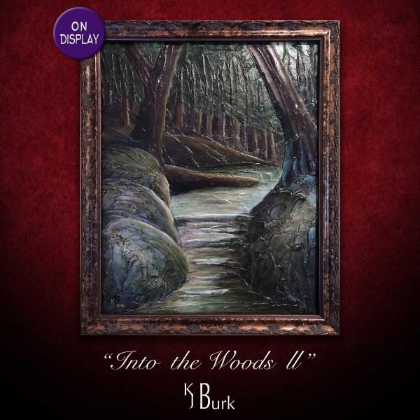 KJsArtStudio.com | Into The Woods II ~ Original Heavily Textured Landscape Painting by KJ Burk