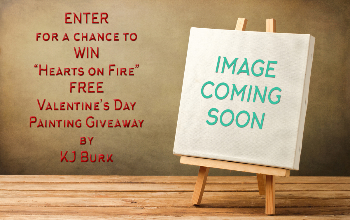 KJsArtStudio.com | 2018 Painting by KJ Burk - Valentine's Day Giveaway!