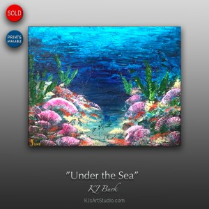 Under the Sea - Original Seascape Abstract Painting by KJ Burk