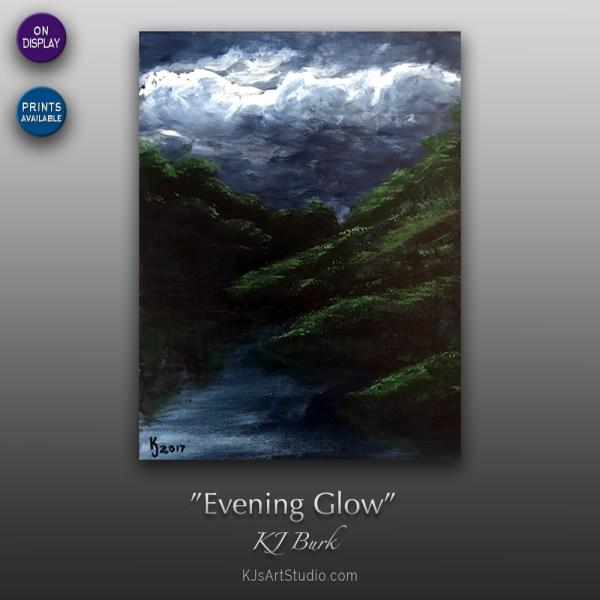 Evening Glow - Original Landscape Painting by KJ Burk