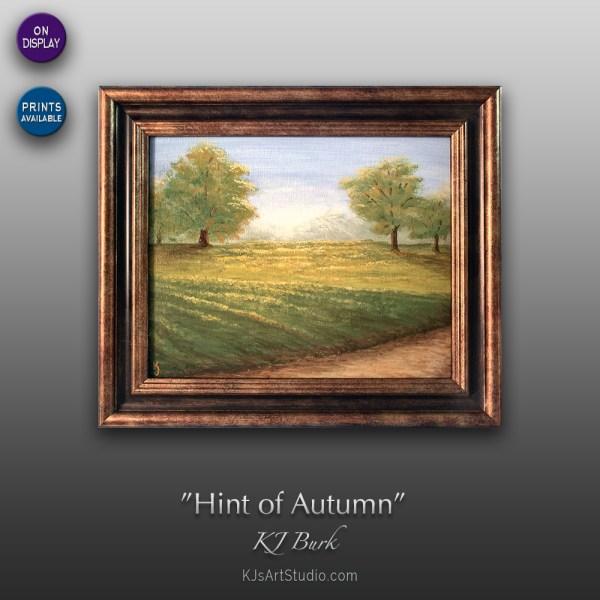 Hint of Autumn - Original Landscape Painting by KJ Burk