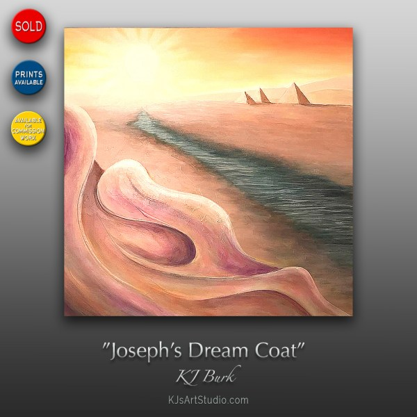 Joseph's Dream Coat - Original Textured Biblical Interpretive Painting by KJ Burk